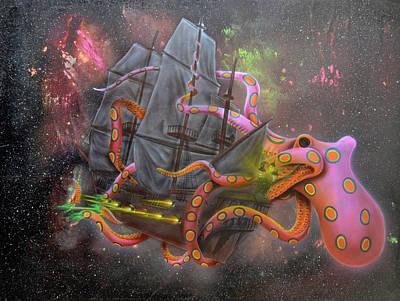 Painting - Syfy- Galactopus by Shawn Palek