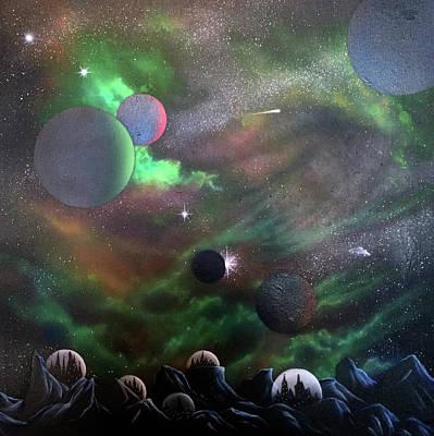 Painting - Syfy- Galaxy Land by Shawn Palek