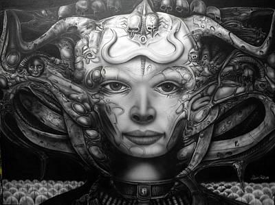 Painting - Syfy- Geiger Li by Shawn Palek