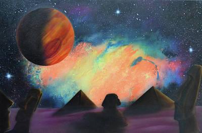 Painting - Syfy- Pyramids by Shawn Palek