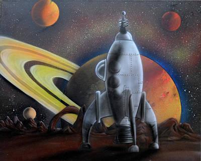 Painting - Syfy- Rocket Ship by Shawn Palek