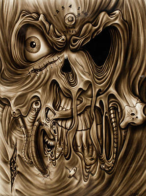 Painting - Syfy- Scary Face by Shawn Palek