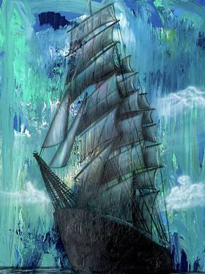 Painting - Syfy- Ship by Shawn Palek