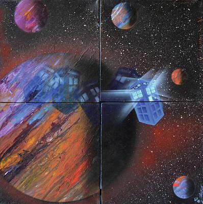 Painting - Syfy- Tardis by Shawn Palek