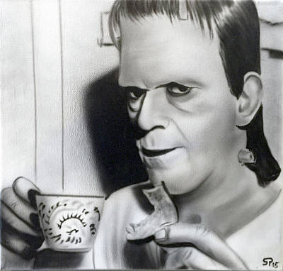 Painting - Syfy- Tea Time by Shawn Palek