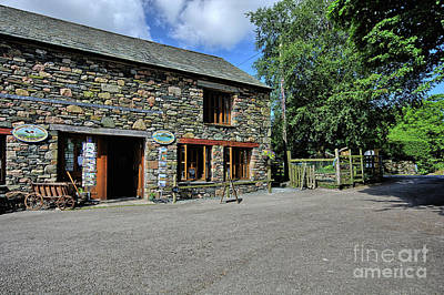 Lake District Wall Art - Photograph - Syke Farm Tea Room by Smart Aviation