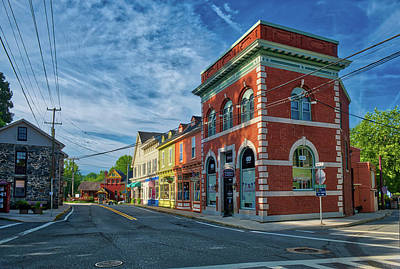 Art Print featuring the photograph Sykesville Main St by Mark Dodd
