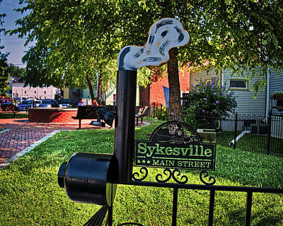 Art Print featuring the photograph Sykesville Main St Sign by Mark Dodd
