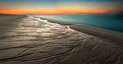 Beach Photograph - Sylt Low Tide Sundown by Niclas Hartz