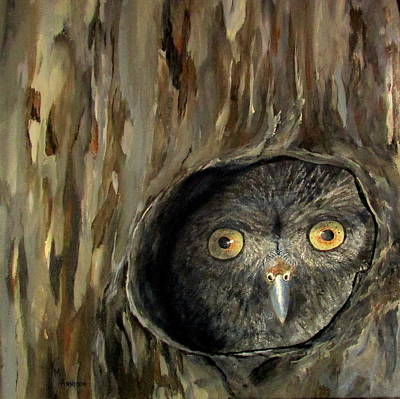 Wall Art - Painting - Sylvan Sentry by Mary Arneson