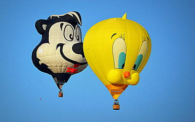Photograph - Sylvester And Tweety Balloons by AJ Schibig