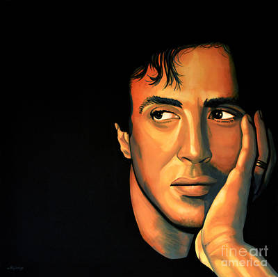Match Painting - Sylvester Stallone by Paul Meijering