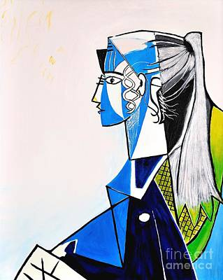 Picasso Style Painting - Sylvette - Tribute To Pablo Picasso by Art by Danielle