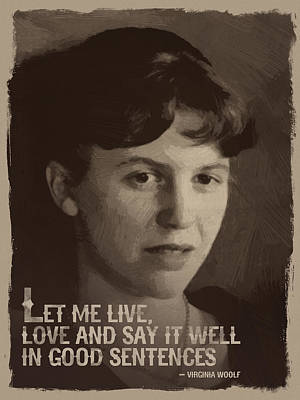 Sylvia Plath Quote Art Print by Afterdarkness