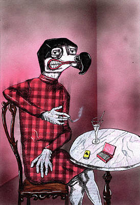 Parody Mixed Media - Sylvia Von Dodo by Bizarre Bunny