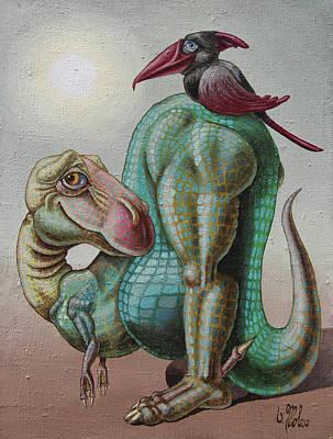 Painting - Symbiotics by Victor Molev