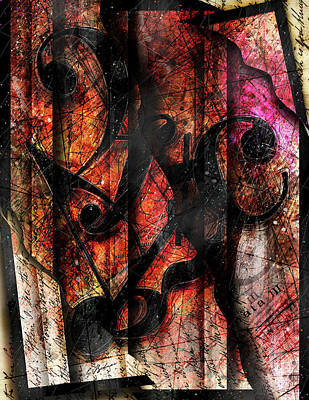 Abstract Music Digital Art - Symblz by Gary Bodnar
