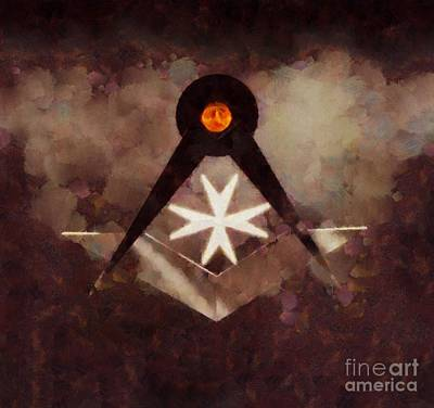 Seeing Painting - Symbol Of The Freemasons By Pierre Blanchard by Pierre Blanchard