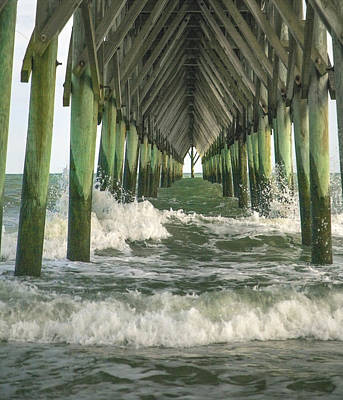 Brown Tones Photograph - Symbolic Surf City Pier by Betsy Knapp