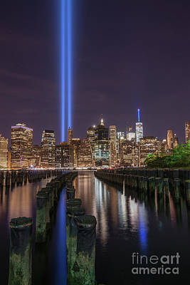 911 Memorial Photograph - Symbols Of Freedom  by Michael Ver Sprill