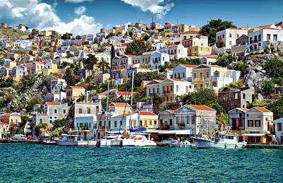 Photograph - Symi Coastline And Harbor by Anthony Dezenzio