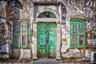 Abandoned House Wall Art - Photograph - Symi by Delphimages Photo Creations