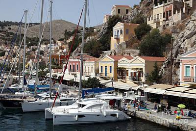 Symi Photograph - Symi Gialos Harbour Greece by Ros Drinkwater