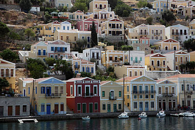 Symi Photograph - Symi Neoclassical Housing by Ros Drinkwater