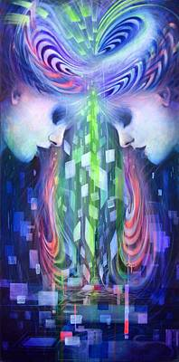 Wall Art - Painting - Symmetric Minds by Alicia Post