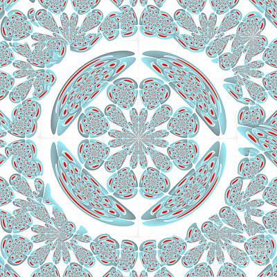 Algorithmic Digital Art - Symmetrical Abstract by Gaspar Avila