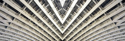 Photograph - Symmetrical Bridge Strut Abstract by John Williams