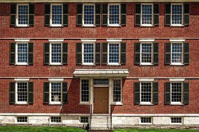 Photograph - Symmetrical New England Style House  -  1830bricknewengbuilding184665 by Frank J Benz