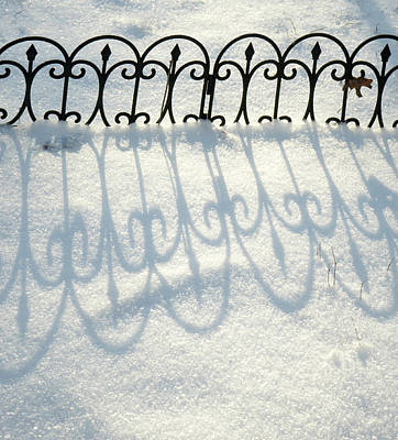Photograph - Symmetrical Shadows In The Snow by Douglas Barnett