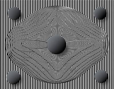 Op Art Photograph - Symmetry by Eleanor Bortnick