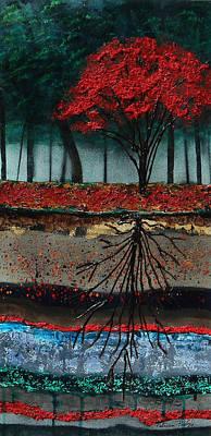 Tree Roots Mixed Media - Symmetry by Patricia Pasbrig
