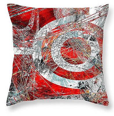 Digital Art - Symmetry Throw Pillow by Fine Art By Andrew David