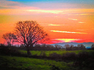 Digital Art - Symphonic Irish Spring Sunrise by James Truett