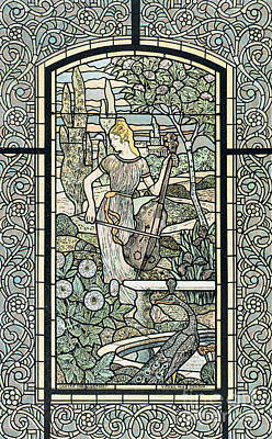 Cello Wall Art - Painting - Symphonie, By Eugene Grasset by Eugene Grasset