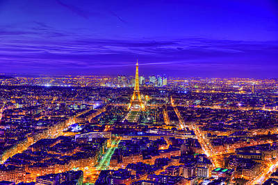Eiffel Tower Paris France Photograph - Symphony In Blue by Midori Chan