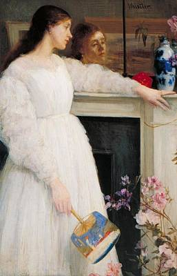 Whistler Painting - Symphony In White by James Abbott