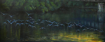 Canadian Geese Painting - Symphony by Natalie LaRocque