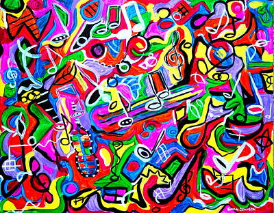 Painting - Symphony Of Love by Gina Nicolae Johnson