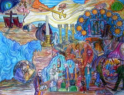 Synagogue Of Satan. Art Print by Richard  Hubal