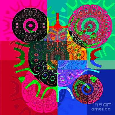 Warrior Goddess Digital Art - Synced by Raymel Garcia