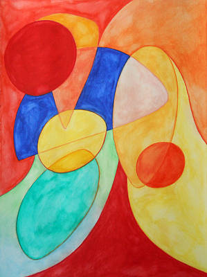 Multicolored Painting - Synchronicity by Laura Joan Levine