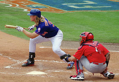 Syndergaard And Molina Art Print by Bruce Roker