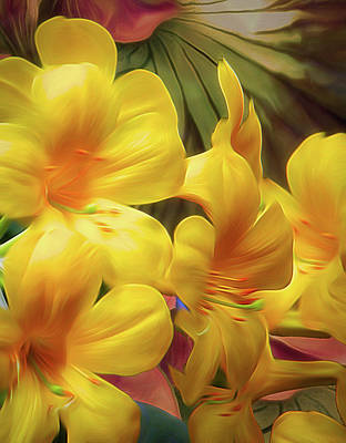 Mixed Media - Synergistic Blooms 6 by Lynda Lehmann