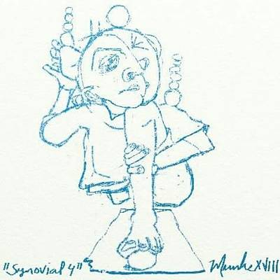 Mixed Media - Synovial 4 by John Stillmunks