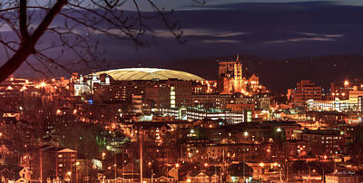 City Scenes Royalty-Free and Rights-Managed Images - Syracuse Dome at night by Everet Regal
