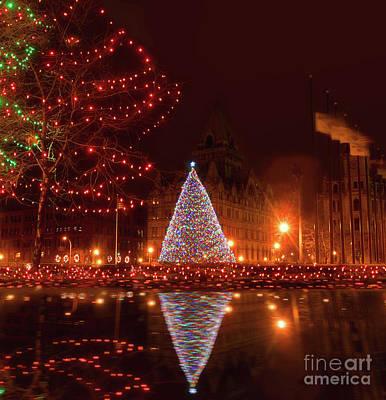 Syracuse, Ny Christmas Tree Art Print by Debra Millet